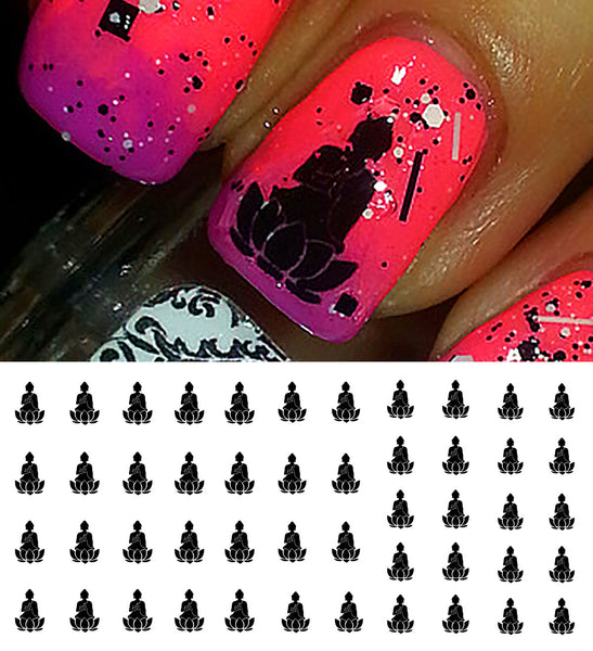 Lotus Buddha Nail Art Decals