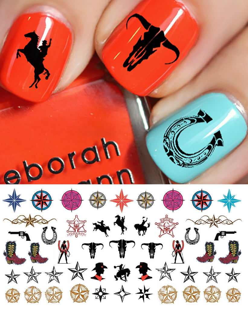 Country Western Nail Decals Set 2 Moon Sugar Decals