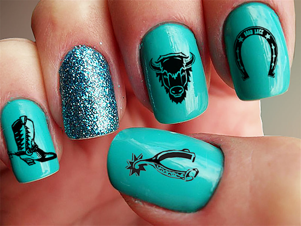 Country & Western Nail Decals Set #1 – Moon Sugar Decals