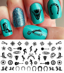Country & Western Nail Decals Set #1