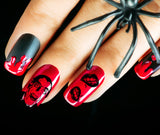 Dracula Vampire Halloween Nail Art Decals