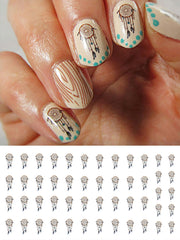 "Dream Catcher Nail Decals - 33 decals (5 1/2"" x 3"" sheet)"