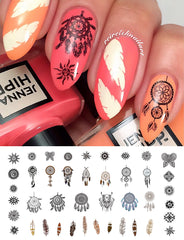 Dream Catcher Nail Decals Set #2