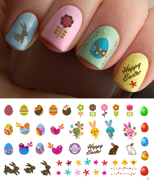 Easter Nail Art Decals Set #1