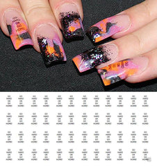 "Go Hard or Go Home Nail Decals - 48 decals (5 1/2"" x 3"" sheet)"