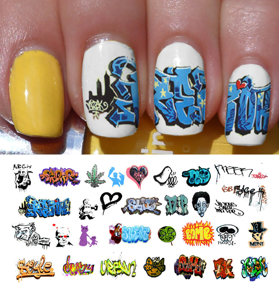 Graffiti Nail Art Decals Set #2 – Moon Sugar Decals