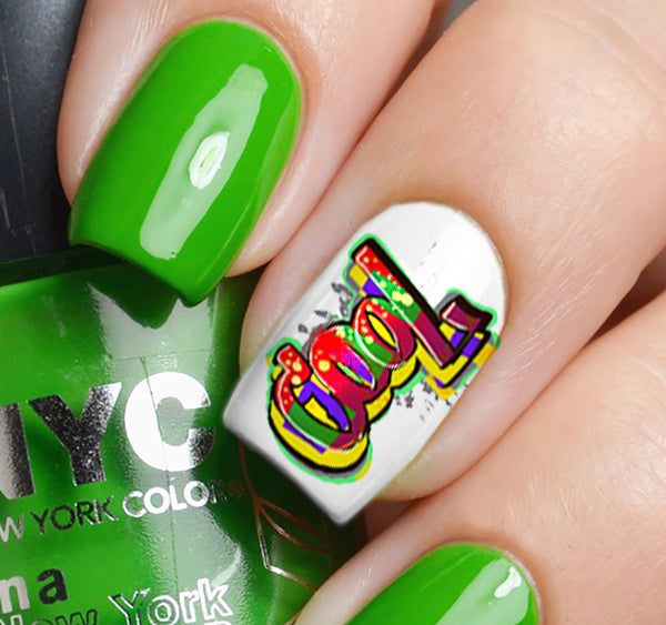 Graffiti Nail Art Decals Set #4