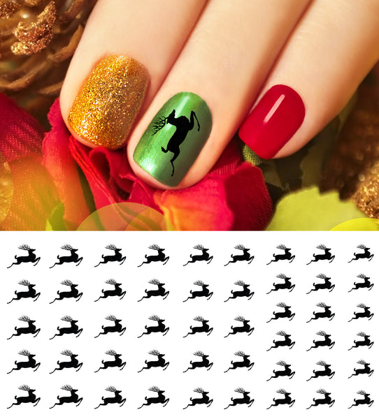 Christmas Reindeer Nail Art Decals