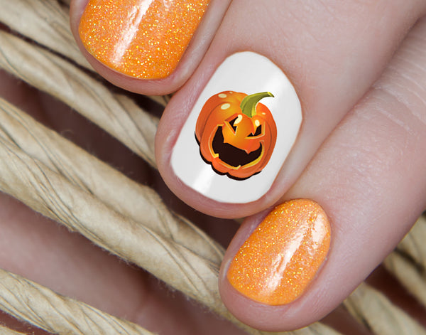 Halloween Pumpkins Nail Decals