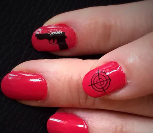 Handgun Nail Decals