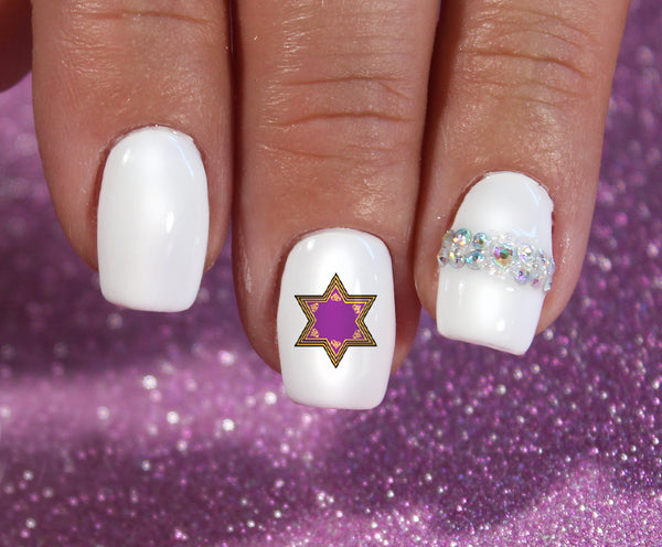 Hanukkah Holiday Nail Art Decals Set #2