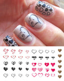Heart Nail Decals Assortment