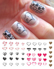 Heart Nail Art Decals Assortment