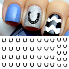 Lucky Horseshoe Nail Decals