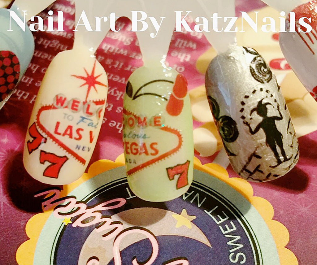 Las Vegas Casino Nail Art Decals Moon Sugar Decals