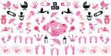 """Its a Girl!"" Baby Footprints, Storks, Strollers & More!"