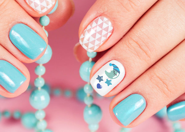 """Its a Boy!"" Baby Shower Nail Art Decals"