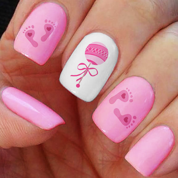 """Its a Girl!"" Nail Art Decals"