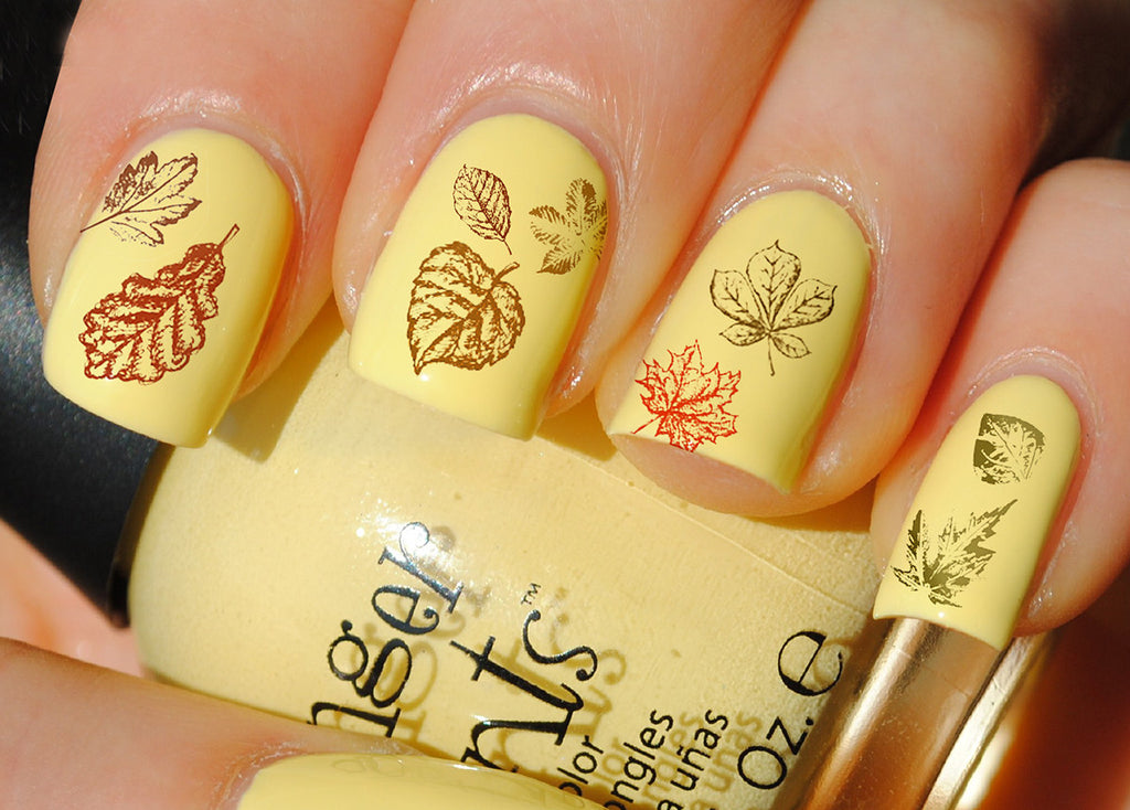 Autumn Fall Leaves Nail Decals Set #3 - 5 1/2\