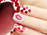 Lips Kiss Nail Art Decals