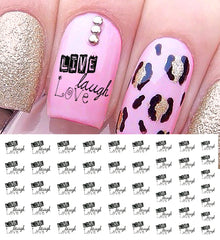 Text Nail Decals