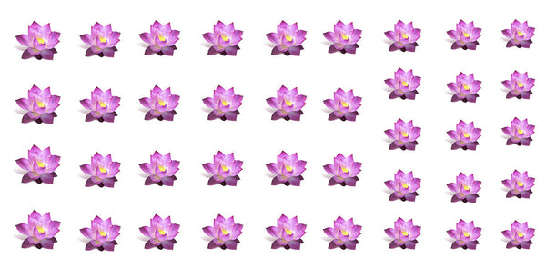"Lotus Flower Nail Decals - 32 decals (5 1/2"" x 3"" sheet)"