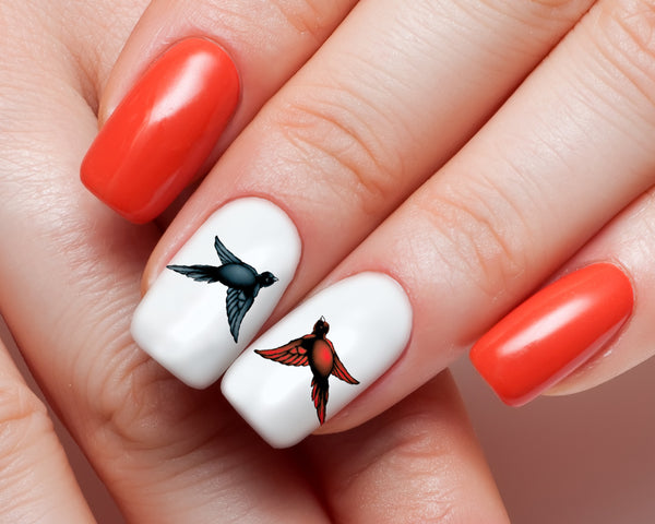 Love Bird Nail Art Decals