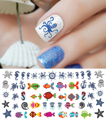 Nautical Nail Art Decals Set #3
