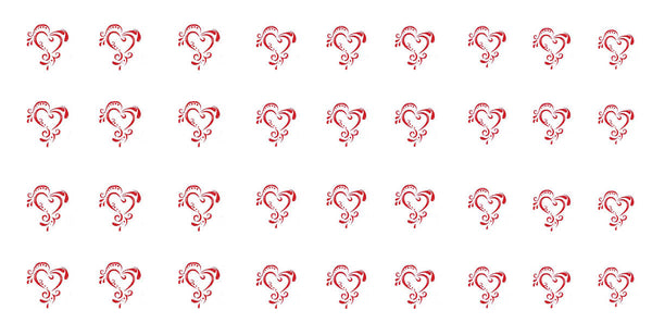 Ornate Heart Decals