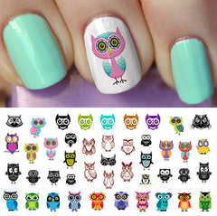 Owl Assortment Nail Art Decals Set #2