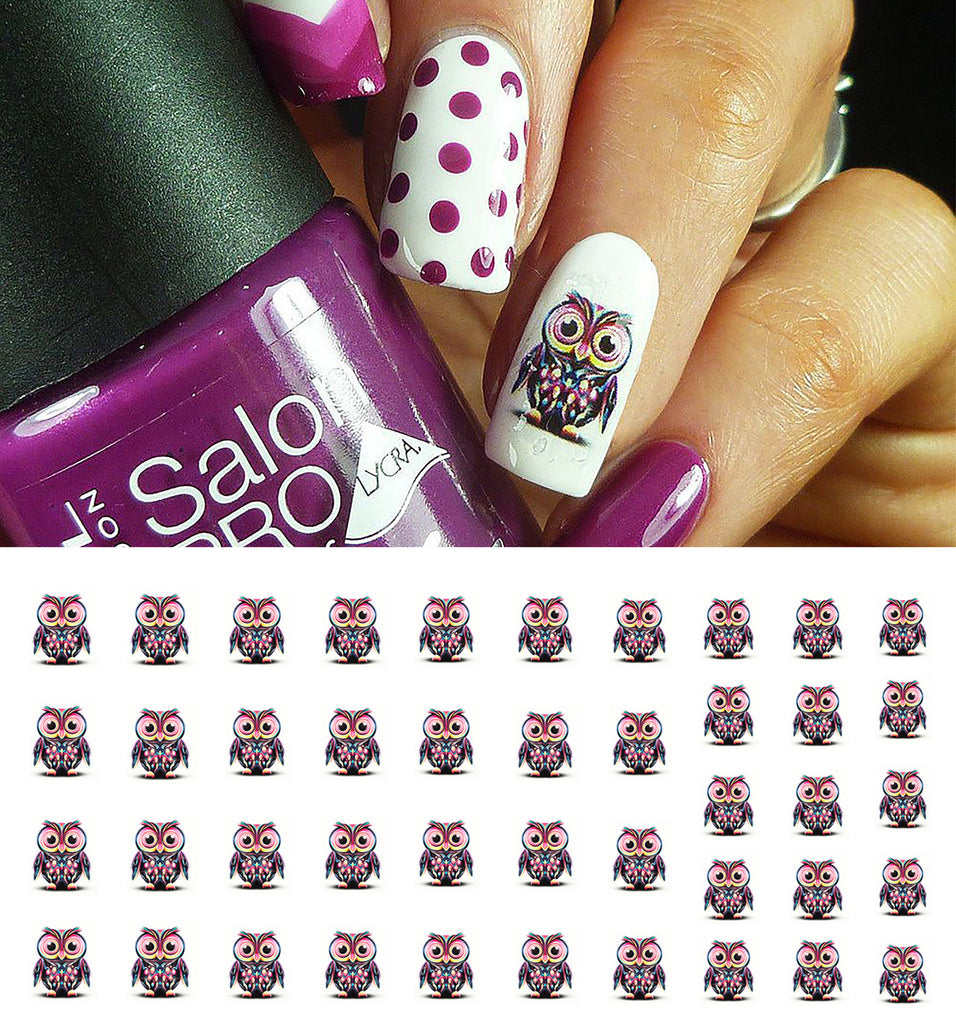 Owl Nail Art Decals – Moon Sugar Decals