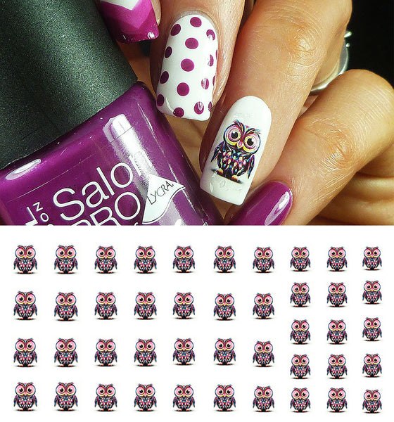 Owl Nail Art Decals