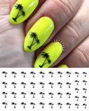 Palm Tree Nail Art Decals