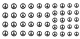 Peace Sign Nail Art  Decals