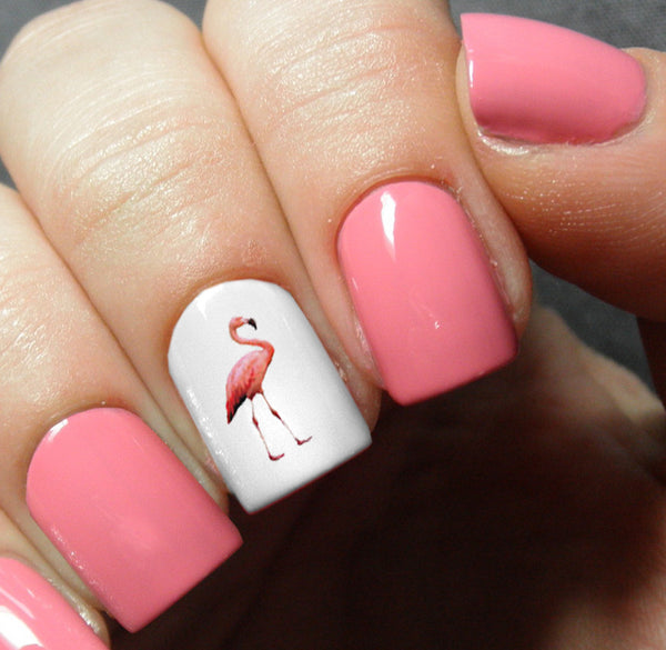 Flamingo Nail Art Decals