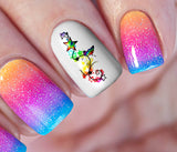 Rainbow Butterfly Star Nail Art Decals