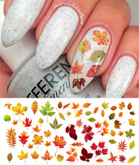 Autumn Fall Leaves Nail Decals Set #2