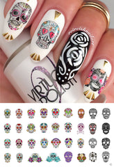 Sugar Skull Nail Decals Assortment Set #2