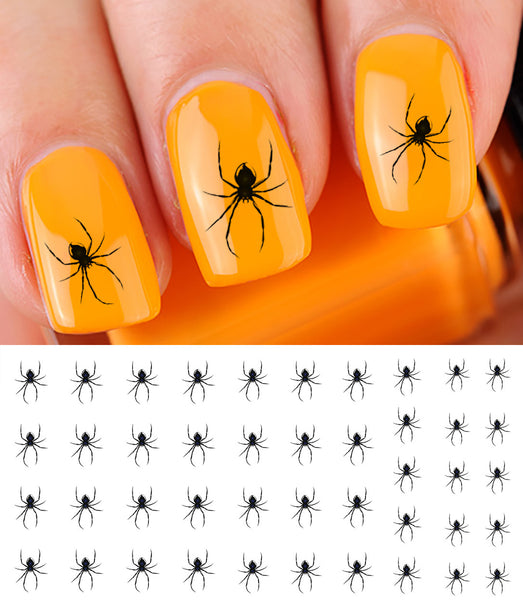 Scary Spider Nail Art Decals