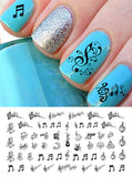 "Sheet Music Nail Decals Set #2 (5 1/2"" x 3"" sheet)"