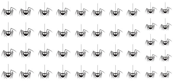 "Spider Nail Decals - 32 decals (5 1/2"" x 3"" sheet)"