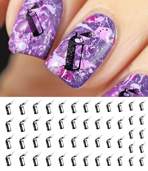 Spray Paint Can Nail Decals