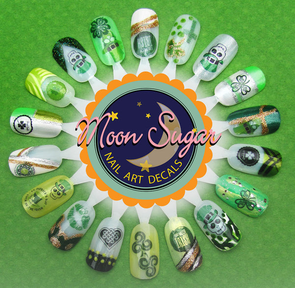 St. Patrick's Day Nail Art Decals Set #1