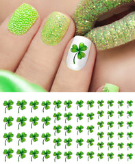 St. Patrick's Day Shamrocks Nail Art Decals