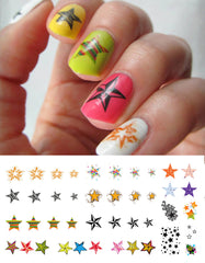 "Star Nail Decals Assortment - 43 decals (5 1/2"" x 3"" sheet)"