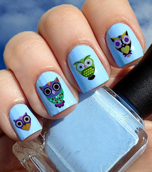 Sugar Skull Owl Nail Decals #2