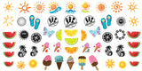 Summer Time Fun Naill Art Decals Set #2