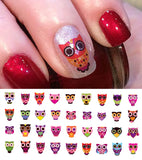 Sugar Skull Owl Nail Decals #1