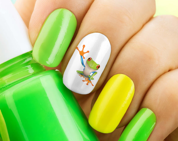 Tree Frog Nail Art Decals