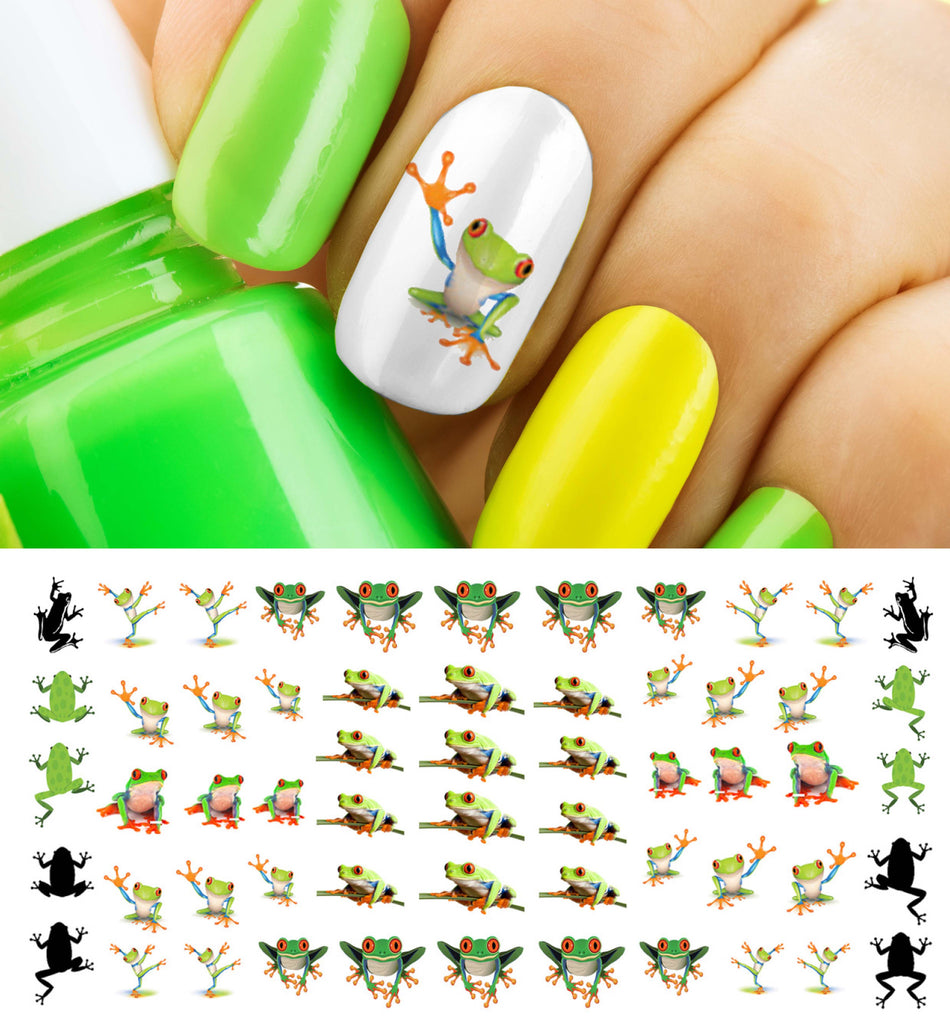 Tree Frog Nail Art Decals – Moon Sugar Decals